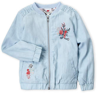 Jessica Simpson Girls 4-6x) Embroidered Chambray Bomber Jacket