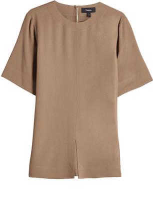 Theory Short-Sleeve Top with Slit