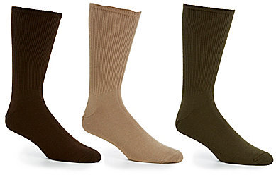 Gold Label Roundtree & Yorke Big & Tall Crew Socks 3-Pack