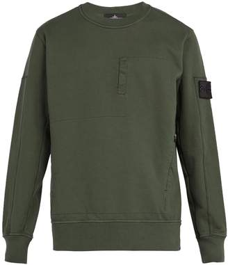 Stone Island SHADOW PROJECT Shadow Project zip-pocket cotton-jersey sweatshirt