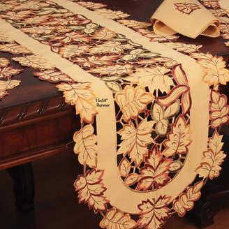 Astoria Grand Wendling Embroidered Cutwork Table Runner