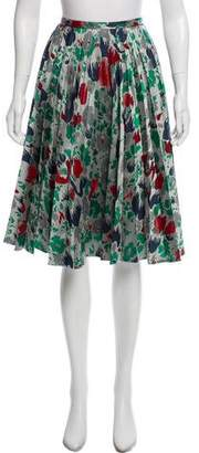 J.W.Anderson Printed Pleated Knee-length Skirt