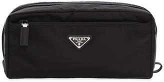 Prada Nylon Toiletry Bag W/ Leather Details