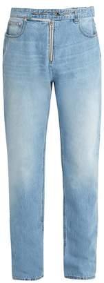 Helmut Lang Belt Straight Leg Jeans - Mens - Indigo