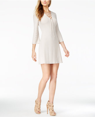 kensie Ribbed Lace-Up Dress $79 thestylecure.com