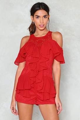 Nasty Gal Got to Be Real Ruffle Romper