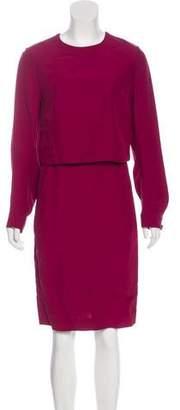 Fendi Long Sleeve Midi Dress