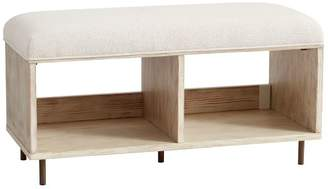 Pottery Barn Teen Brooke Bench, Weathered White/Simply White