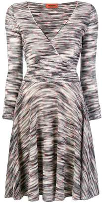 Missoni plunge-neck patterned knit dress