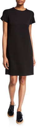 Aspesi Short-Sleeve Jersey Short Dress with Side Pockets