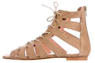 Stuart Weitzman Suede Lace-Up Sandals