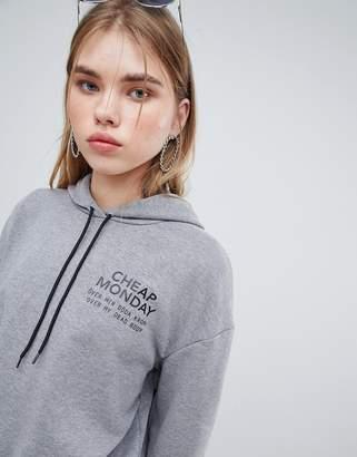 Cheap Monday chest logo hoodie
