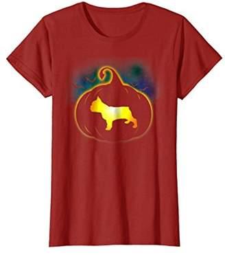 French Bulldog Pumpkin Funny Halloween T-Shirt