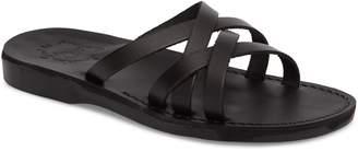Jerusalem Sandals Gad Cross Strap Slide Sandal