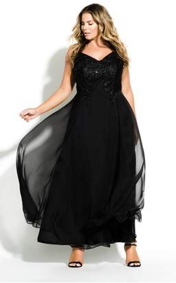City Chic Citychic Divine Maxi Dress - black