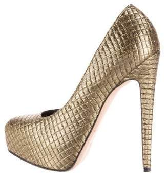 Brian Atwood Metallic Platform Pumps $95 thestylecure.com