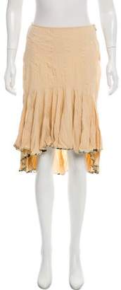 Just Cavalli Ruffle- Accented Knee- Length Skirt