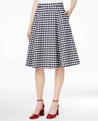 Maison Jules Gingham A-Line Skirt, Only at Macy's $49.50 thestylecure.com