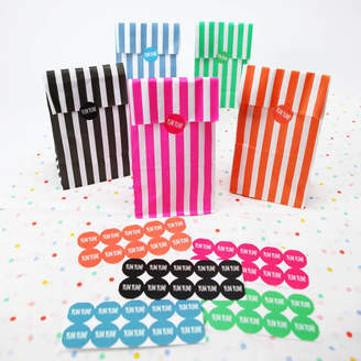 At Notonthehighstreet Postbox Party Candy Stripe Bags With Stickers