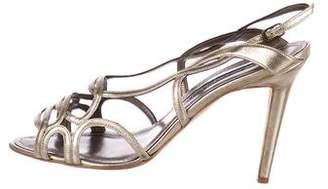 Manolo Blahnik Leather Multistrap Sandals