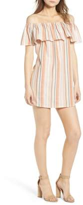 Bishop + Young BISHOP AND YOUNG Sunset Stripe Off the Shoulder Dress