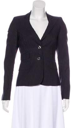 CNC Costume National Pinstripe Button-Up Blazer