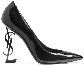 Opium logo-heel patent-leather pumps