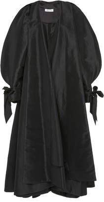 Richard Quinn Puff-Sleeve Faille Opera Coat