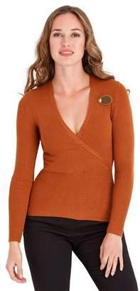 Joe Browns Orange Fabulously Flattering Ribbed Knit