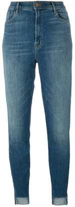 J Brand high-rise cropped skinny jeans $262.75 thestylecure.com