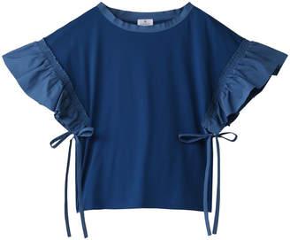 LANVIN en Bleu (ランバン オン ブルー) - ランバン オン ブルー タフタスリーブカットソー