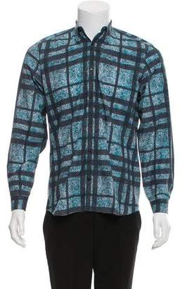 Burberry Abstract Print Long Sleeve Shirt