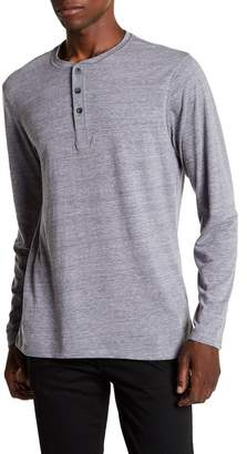 Public Opinion Henley Long Sleeve Tee