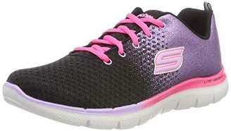 Skechers Girls' Skech Appeal 2.0-GET EM GLITT Fitness Shoes, (Black/Lavender/Pink Blvp), (30 EU)