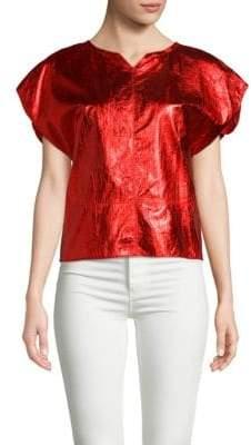 Isabel Marant Metallic Leather Blouse