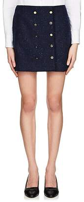 Thom Browne Women's Frayed Wool Miniskirt