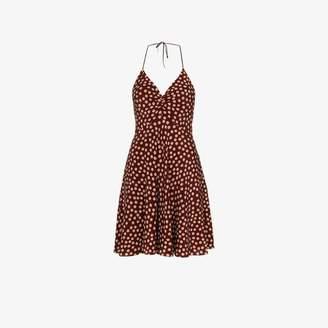 Saint Laurent Polka Dot Silk Mini Dress
