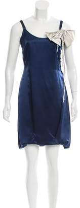 Roksanda Ilincic Silk Bow-Adorned Dress