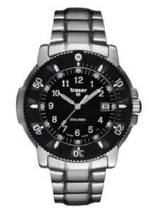 Traser P6502.120.32.01 Men's Stainless Steel Black Dial Dive Watch