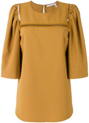 See by Chloe puff-sleeve blouse