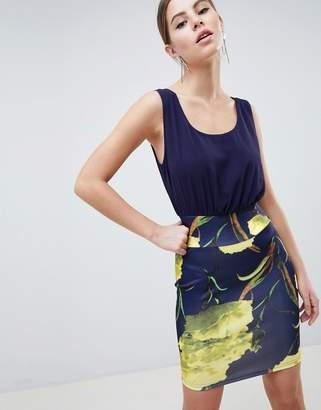AX Paris 2-in-1 Cami Skater Dress With Lemon Print Skirt
