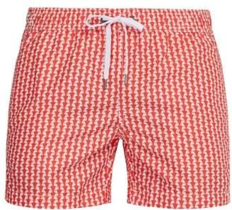 "Onia Charles 5"" Liberty Print Swim Shorts - Mens - Red"