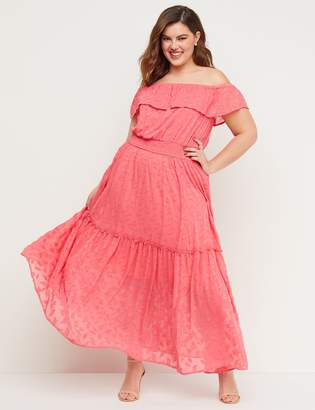 e69586c15c3 Lane Bryant Off-the-Shoulder Smocked Maxi Dress