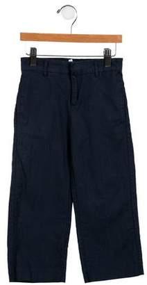 Marie Chantal Girls' Linen-Blend Wide-Leg Pants