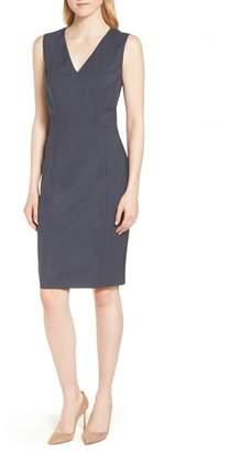 BOSS Dalouise Pepita Stretch Wool Sheath Dress