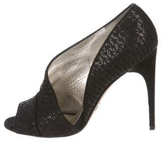 Dolce & Gabbana Woven Cut-Out Sandals