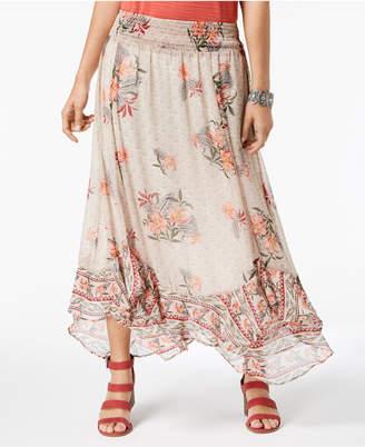 Style&Co. Style & Co Petite Printed Ruffle-Hem Maxi Skirt