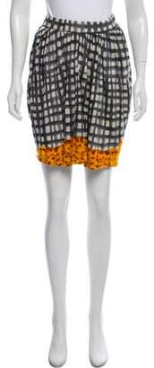 Tsumori Chisato Printed Wool Mini Skirt
