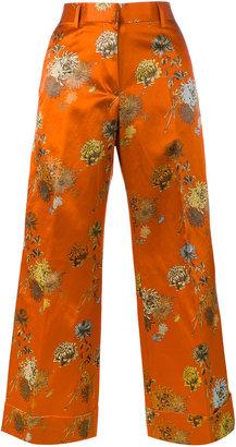 Poiretti floral print trousers