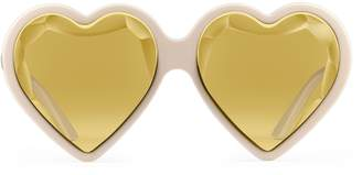 Gucci Heart-frame acetate sunglasses
